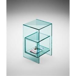 N.2 tavolini FIAM in vetro trasparente